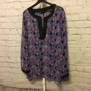 Purple and Gray Blouse